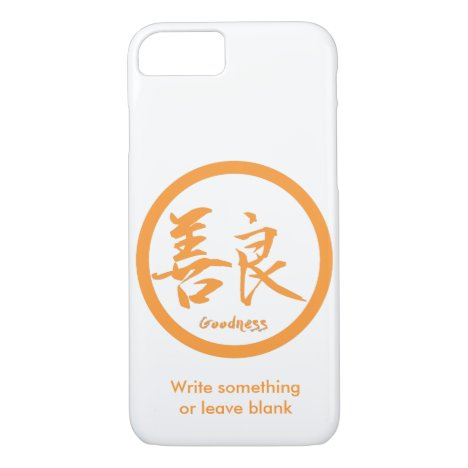 Goodness Orange Kanji  Kamon | iPhone 7 cases