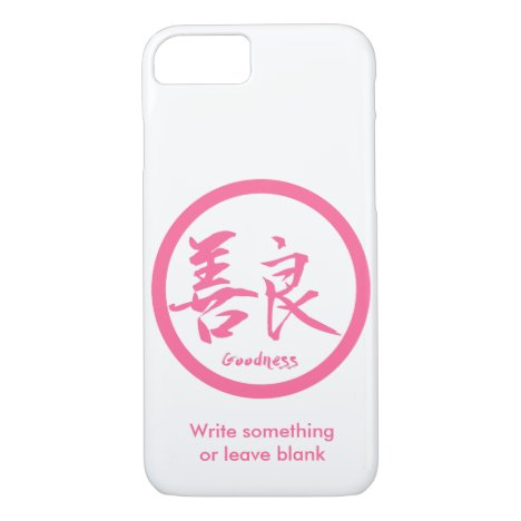 Goodness Pink Kanji  Kamon | iPhone 7 cases