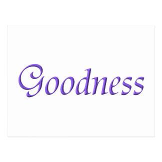 """Goodness"" Postcard"