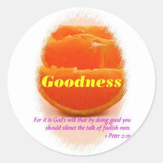 Goodness Round Stickers