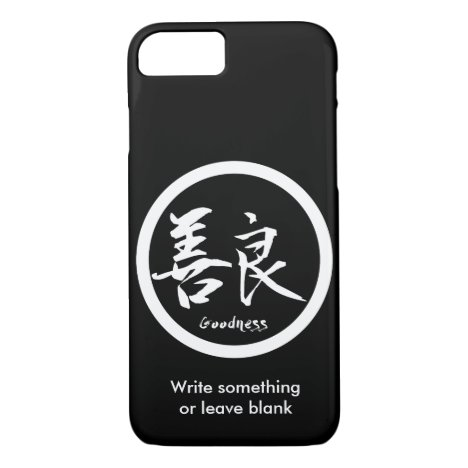Goodness White Kanji  Kamon | iPhone 7 cases