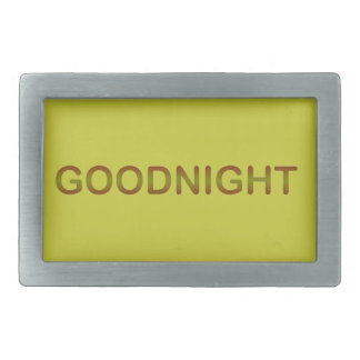 GOODNIGHT2 GOODNIGHT GOOD NIGHT SLEEPY COMMENTS RECTANGULAR BELT BUCKLES