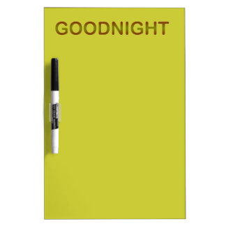 GOODNIGHT2 GOODNIGHT GOOD NIGHT SLEEPY COMMENTS Dry-Erase BOARDS