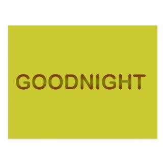 GOODNIGHT2 GOODNIGHT GOOD NIGHT SLEEPY COMMENTS POSTCARD