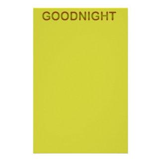 GOODNIGHT2 GOODNIGHT GOOD NIGHT SLEEPY COMMENTS CUSTOMIZED STATIONERY