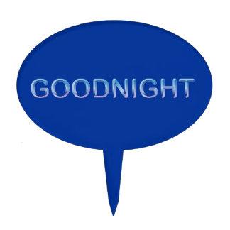 GOODNIGHT8 GOODNIGHT blue GOOD NIGHT SLEEPY COMMEN Cake Topper