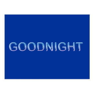 GOODNIGHT8 GOODNIGHT blue GOOD NIGHT SLEEPY COMMEN Postcard