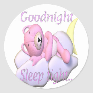 goodnight.bear classic round sticker