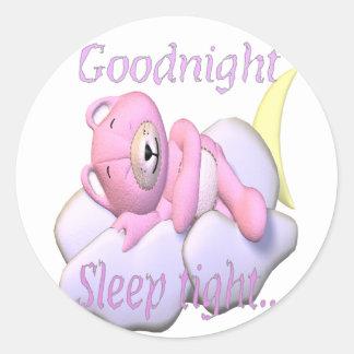 goodnight.bear classic round sticker