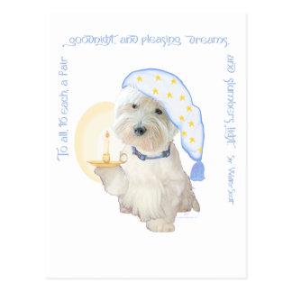 Goodnight Blue Postcard