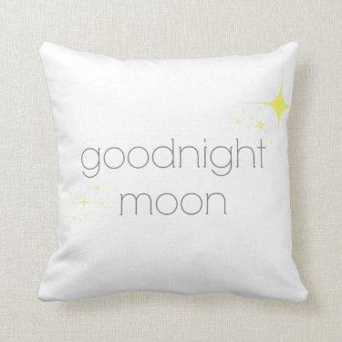 Goodnight Moon - Cotton Throw Pillow