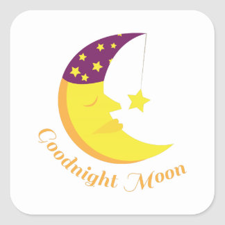 Goodnight Moon Square Stickers