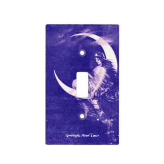Goodnight, MoonTimer switchplate, purple Light Switch Cover