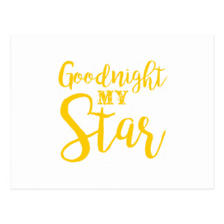Goodnight my star postcard