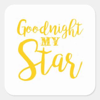 Goodnight my star square sticker