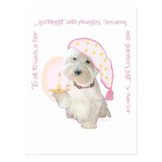 Goodnight Pink Postcard