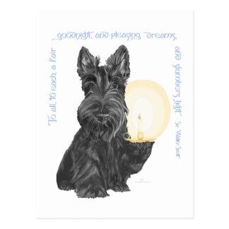 Goodnight Scottish Terrier Postcard