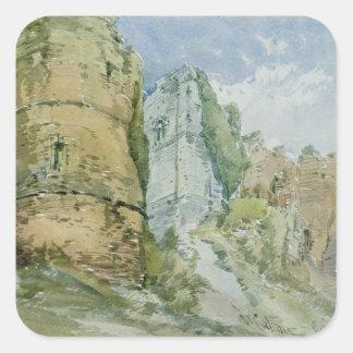 Goodrich Castle, Herefordshire Square Sticker