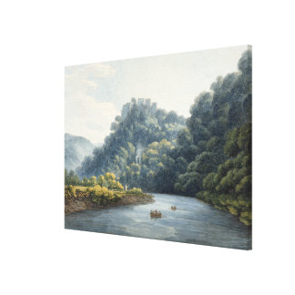 Goodrich Castle on the Wye (w/c, pen & ink, chalk Canvas Print