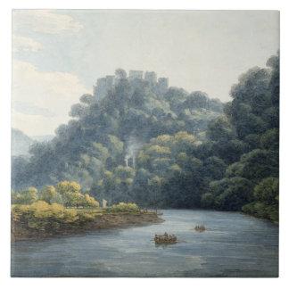 Goodrich Castle on the Wye (w/c, pen & ink, chalk Ceramic Tile