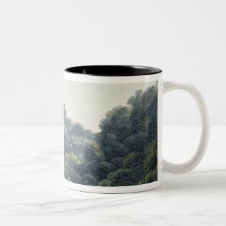 Goodrich Castle on the Wye (w/c, pen & ink, chalk Two-Tone Coffee Mug