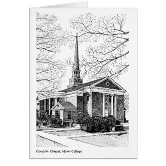 Goodrich Chapel, Albion College Greeting Card