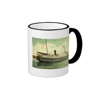 Goodrich Steamer Georgia, White Lake, Michigan Ringer Coffee Mug