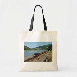 Goods train in ASS one ASS on the Rhine Tote Bag
