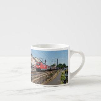Goods train in coarse home on the Rhine Espresso Cup