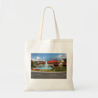Goods train in Linz on the Rhine Tote Bag