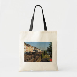 Goods train in Lorchhausen on the Rhine Tote Bag