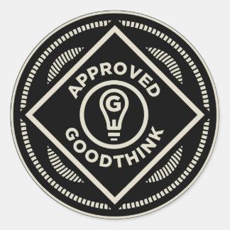 Goodthink aprobó el sistema del pegatina