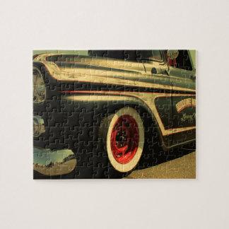 Goodtimes Motors Hotrod Truck Antiqued Jigsaw Puzzle