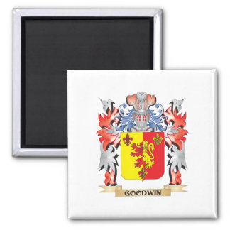 Goodwin Coat of Arms - Family Crest 2 Inch Square Magnet