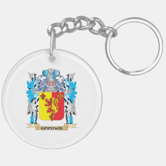 Goodwin Coat of Arms - Family Crest Double-Sided Round Acrylic Keychain