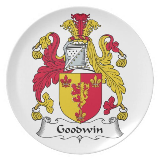 Goodwin Family Crest Party Plates