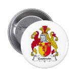 Goodwin Family Crest Pinback Buttons