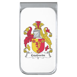 Goodwin Family Crest Silver Finish Money Clip
