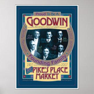 Goodwin/POSTER conmemorativo del mercado de los lu