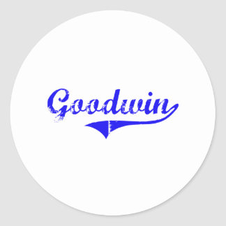 Goodwin Surname Classic Style Classic Round Sticker