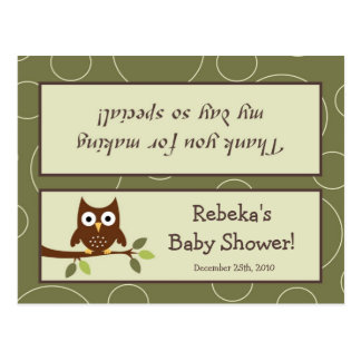 Goody Bag Topper Forrest Animal Owl Deer Bird Porc Postcard