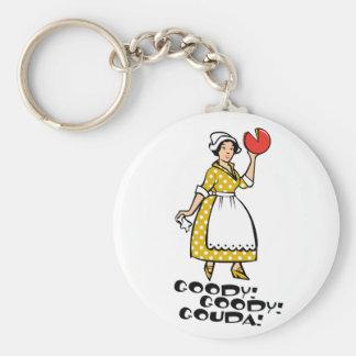 Goody! Goody! Gouda! Keychain