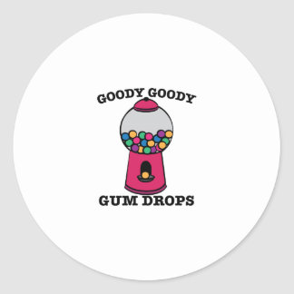Goody Goody Gum Drops Classic Round Sticker