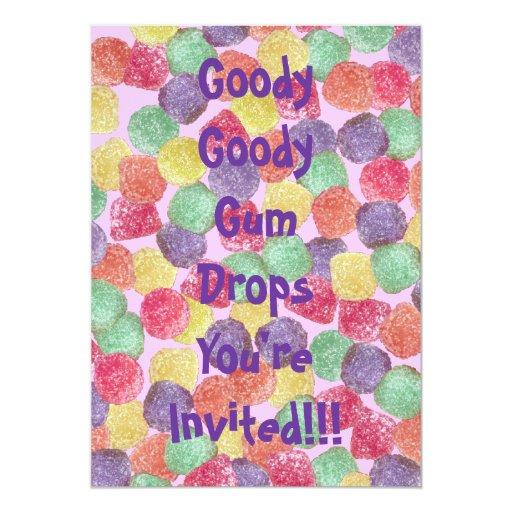Goody Goody Gum Drops Invitation