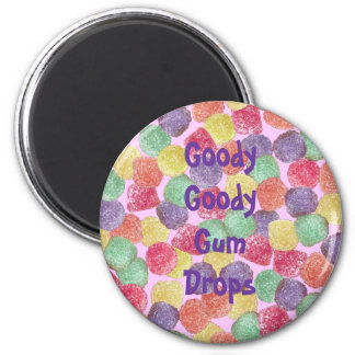 Goody Goody Gum Drops Round Magnet Refrigerator Magnet