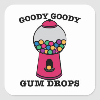 Goody Goody Gum Drops Square Sticker