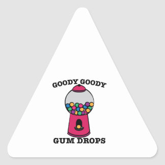 Goody Goody Gum Drops Triangle Sticker