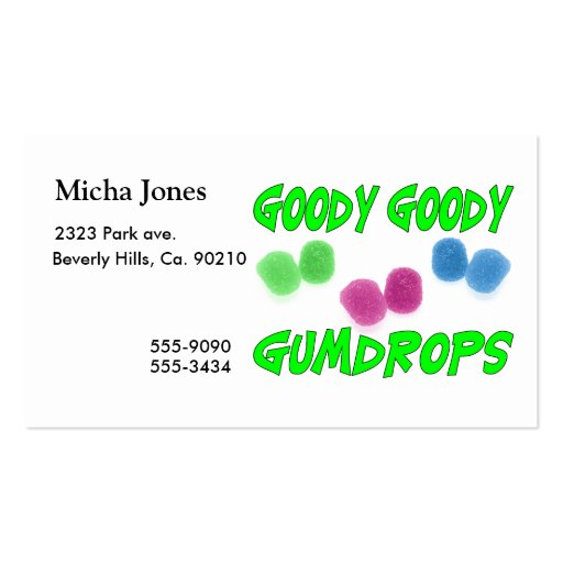 Goody Goody Gumdrops Double-Sided Standard Business Cards (Pack Of 100)