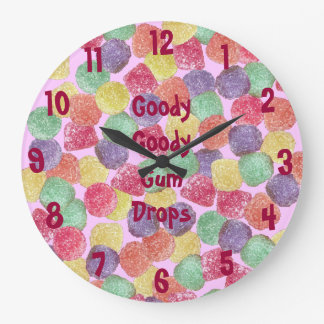 Goody Goody Gumdrops Large Clock