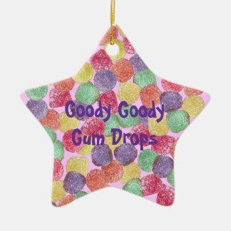 Goody Goody Gumdrops Double-Sided Star Ceramic Christmas Ornament